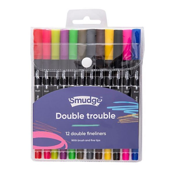 Double Trouble Fineliners x 12 pack