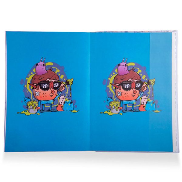 Website Sketchpad A45 1 600x600 - Mini Monsters A4 Premium Notebook