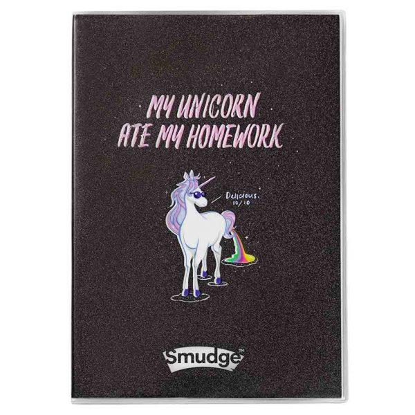 Unicorn Ate My Homework A4 Premium Notebook