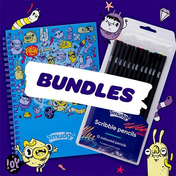 smudge stationery bundles