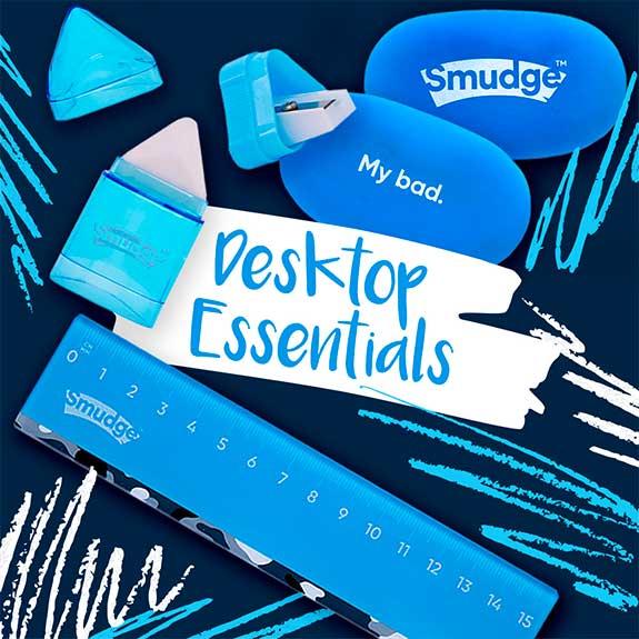 smudge stationery desktop essentials