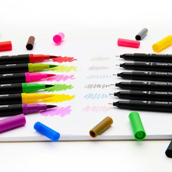 Double Trouble Pens 7 1024x1024 600x600 - Gorgeous Geek Premium Notebook & Pencil Case Set