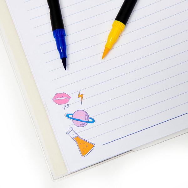 Geek Notebook Pens Detial 1024x1024 600x600 - Geek On Fleek A4 Premium Notebook