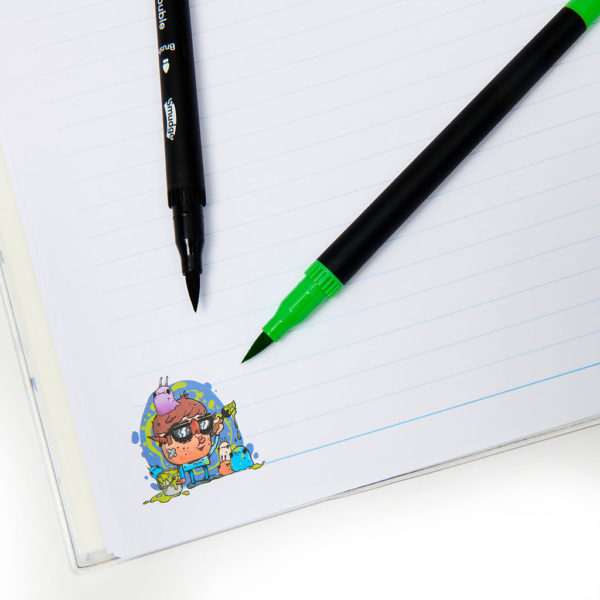 Monsters Notebook Pens Detial 1024x1024 600x600 - Mini Monsters A4 Premium Notebook